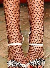 Sweet brunette Bambi showing her beautiful legs