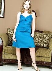 Mayas new blue dress hits the floor