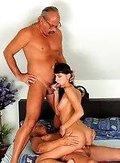 Mia Moone is ready for a hot old-young gangbang