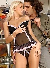 Blonde Boroka enjoys hot fucking with her lover