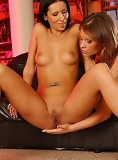 Horny Lara and Lorna makes a hot fingering party